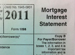 Tax advantages of owning a home - 1098 tax form