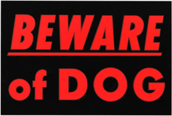 Beware of Dog - Ways to Secure Your Home During the Holidays
