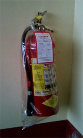 Fire is one of the dangers in your home - be sure to have a fire extinguisher on hand