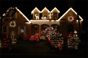 Gulf Shores house decorated for Christmas