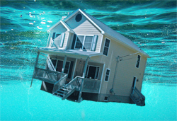 Suffolk County NY housing inventory keeps declining, due in part to many homeowners being underwater on their mortgage.