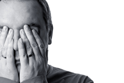 home buyers need higher FICO scores - man hiding face